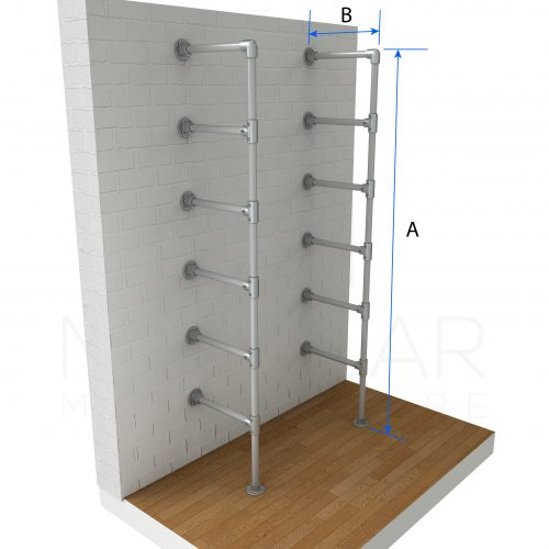 Shelf Wall and Floor Mounted Dimensions
