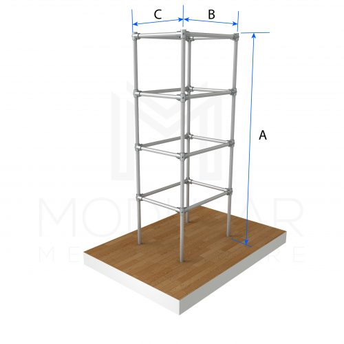 Shelve Trolley Unit Tall Dimensions
