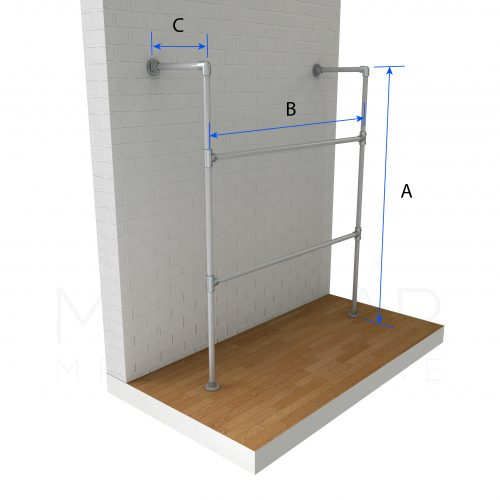 Wall Fixed Clothing Rail Dimensions