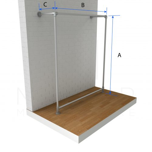 Wall Fixed Clothing Top Rail Dimensions