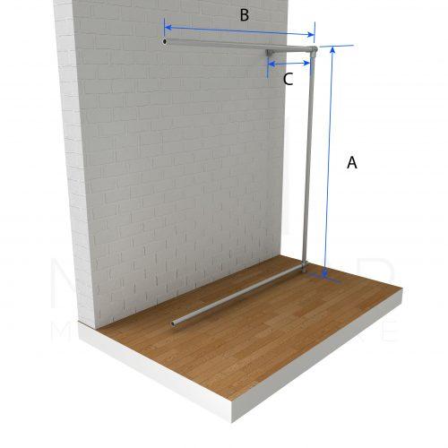 Wall-Fixed-Clothing-Top-Rail-Ext-Dimensions-compressor